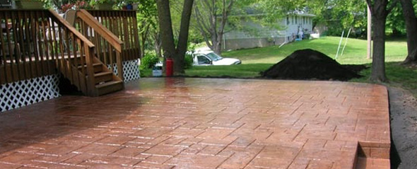 Beautiful decorative concrete from our concrete contractors in Minneapolis, MN